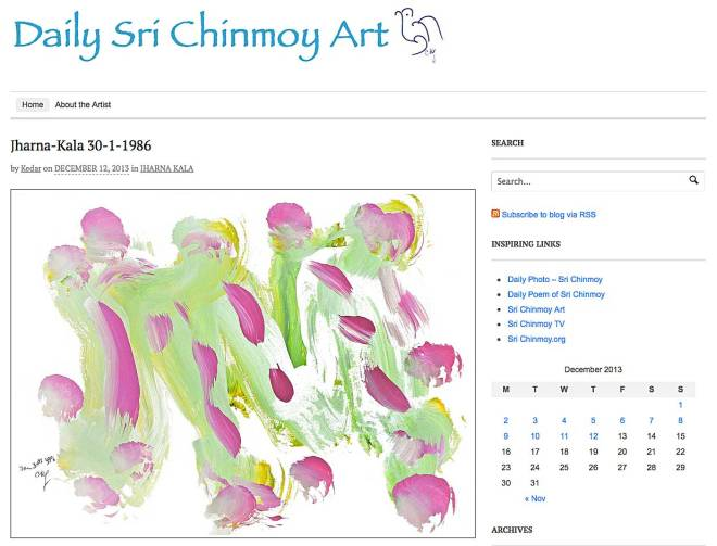 NEW WEBSITE: Daily artwork by Sri Chinmoy